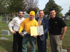Robb Botticella Recognized for Work at Historic Drummond Hill Cemetery